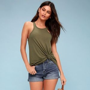 Free People Long Beach Ribbed Tank